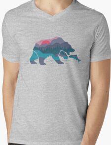 Bear Country Mens V-Neck T-Shirt