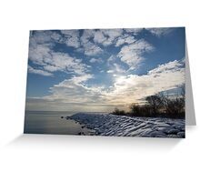 Brilliant Sunshine After the Snowstorm – a Winter Beach on Lake Ontario Greeting Card
