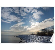 Brilliant Sunshine After the Snowstorm – a Winter Beach on Lake Ontario Poster