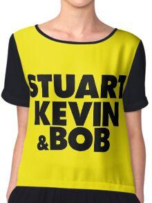 STUART, KEVIN & BOB (MINIONS) Chiffon Top