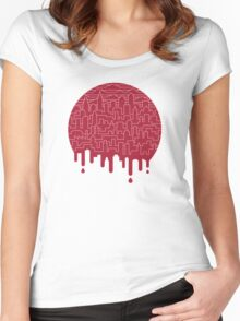 Painted Red Women's Fitted Scoop T-Shirt