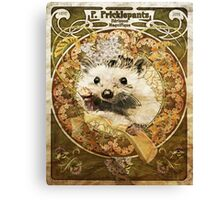 Cute Art Nouveau Hedgehog  Canvas Print