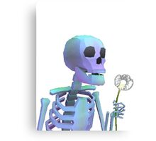 skeleton with wishes Canvas Print