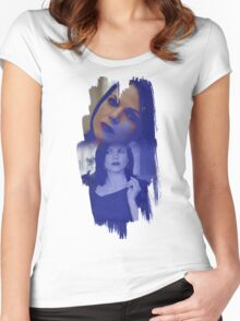 Regina Mills - brush effect Women's Fitted Scoop T-Shirt