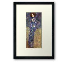 Gustav Klimt - Emilie Floege - Klimt -Woman Portrait Framed Print