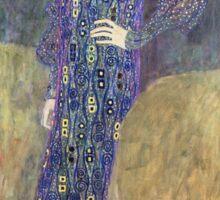 Vintage famous art - Gustav Klimt - Emilie Floege Sticker