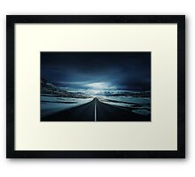 Long Icy Road Framed Print