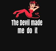 The Devil made me do it Women's Fitted V-Neck T-Shirt