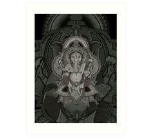 Ganesha2 - black Art Print