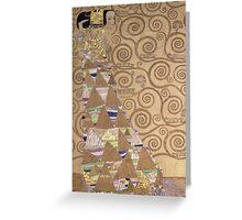 Vintage famous art - Gustav Klimt - Expectation Greeting Card