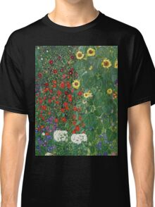 Gustav Klimt - Farm Garden With Flowers - Klimt- Landscape- Garden With Flowers Classic T-Shirt
