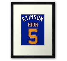 STINSON HIGH 5 (second version) Framed Print