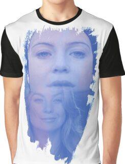 Meredith Grey -  brush effect Graphic T-Shirt