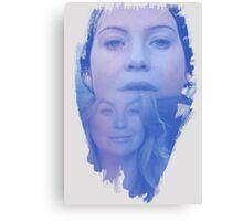 Meredith Grey -  brush effect Canvas Print