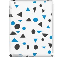 Cute Shapes Blue and Black iPad Case/Skin