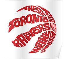 Toronto Raptors (Red) Poster