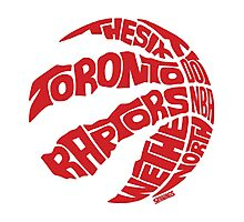 Toronto Raptors (Red) Photographic Print