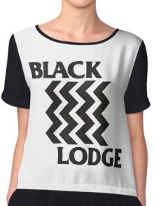 Twin Peaks Black Lodge Black Flag Parody Chiffon Top