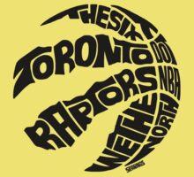 Toronto Raptors (Black) Kids Tee