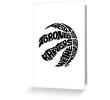 Toronto Raptors (Black) Greeting Card