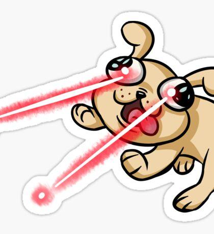 Laser Puppy Sticker