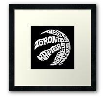 Toronto Raptors (White) Framed Print
