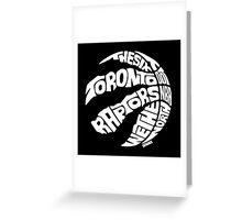 Toronto Raptors (White) Greeting Card