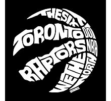 Toronto Raptors (White) Photographic Print