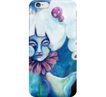 Lowbrow Art Marguerite Daisy woman with a Flower & Pill Cheek iPhone Case/Skin