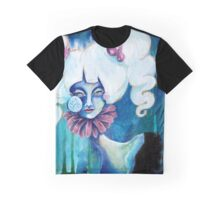 Lowbrow Art Marguerite Daisy woman with a Flower & Pill Cheek Graphic T-Shirt