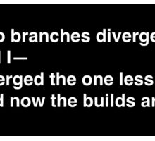 Two branches diverged on git (black bg) Sticker