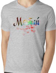 "Мечта russian word ""dream"" rainbow quote glitter design Mens V-Neck T-Shirt"