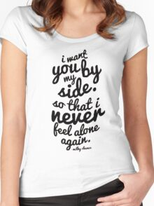 Milky Chance Quote Women's Fitted Scoop T-Shirt