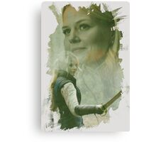 Emma Swan - brush effect Canvas Print