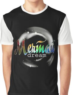 Мечтай dream russian colorful cosmic word quote design Graphic T-Shirt