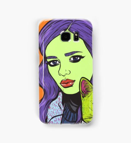 Girl with Cat Samsung Galaxy Case/Skin