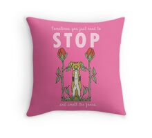 Stop and Smell the Foxes - PINK Throw Pillow