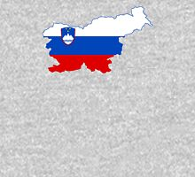 Flag Map of Slovenia  Unisex T-Shirt