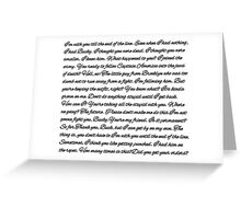 Steve & Bucky Quotes Greeting Card