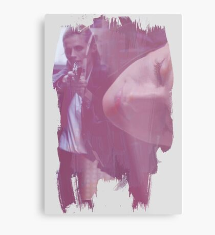 Kate Beckett - brush effect Metal Print