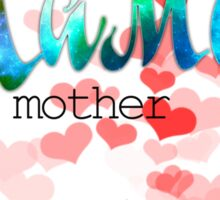 Мама mother's day russian word design with colorful gradient glitter and sparkling Sticker