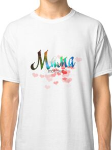 Мама mother's day russian word design with colorful gradient glitter and sparkling Classic T-Shirt