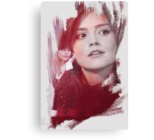 Clara Oswald - brush effect Canvas Print