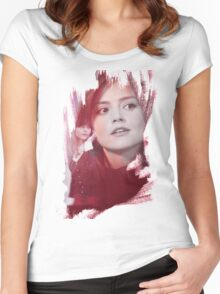 Clara Oswald - brush effect Women's Fitted Scoop T-Shirt