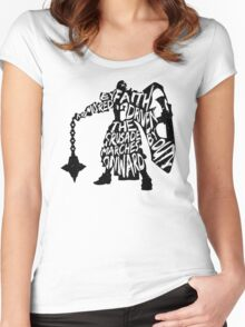 Armored by Faith, Driven by Duty Women's Fitted Scoop T-Shirt