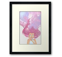 Galaxy hair Framed Print