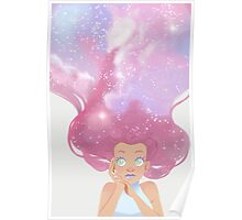 Galaxy hair Poster