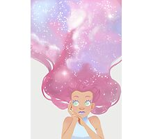 Galaxy hair Photographic Print
