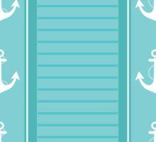 Nautical Blue and White Stripe Design Sticker