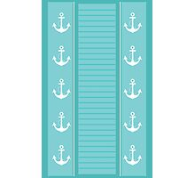 Nautical Blue and White Stripe Design Photographic Print